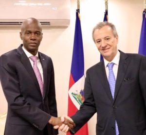 Fin de mission de Mr De Mello Vidal ambassadeur du Brésil en Haïti