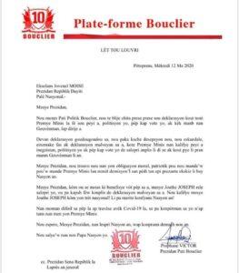 Bouclier démande la tête du Premier Ministre Jouthe