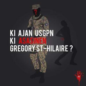 Une image sans identité d'un agent de l'USGPN pour trouver le coupable dans la mort de Grégory Saint-Hilaire