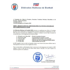 FHF-CHFP: le chronogramme des activités footballistiques dévoilés